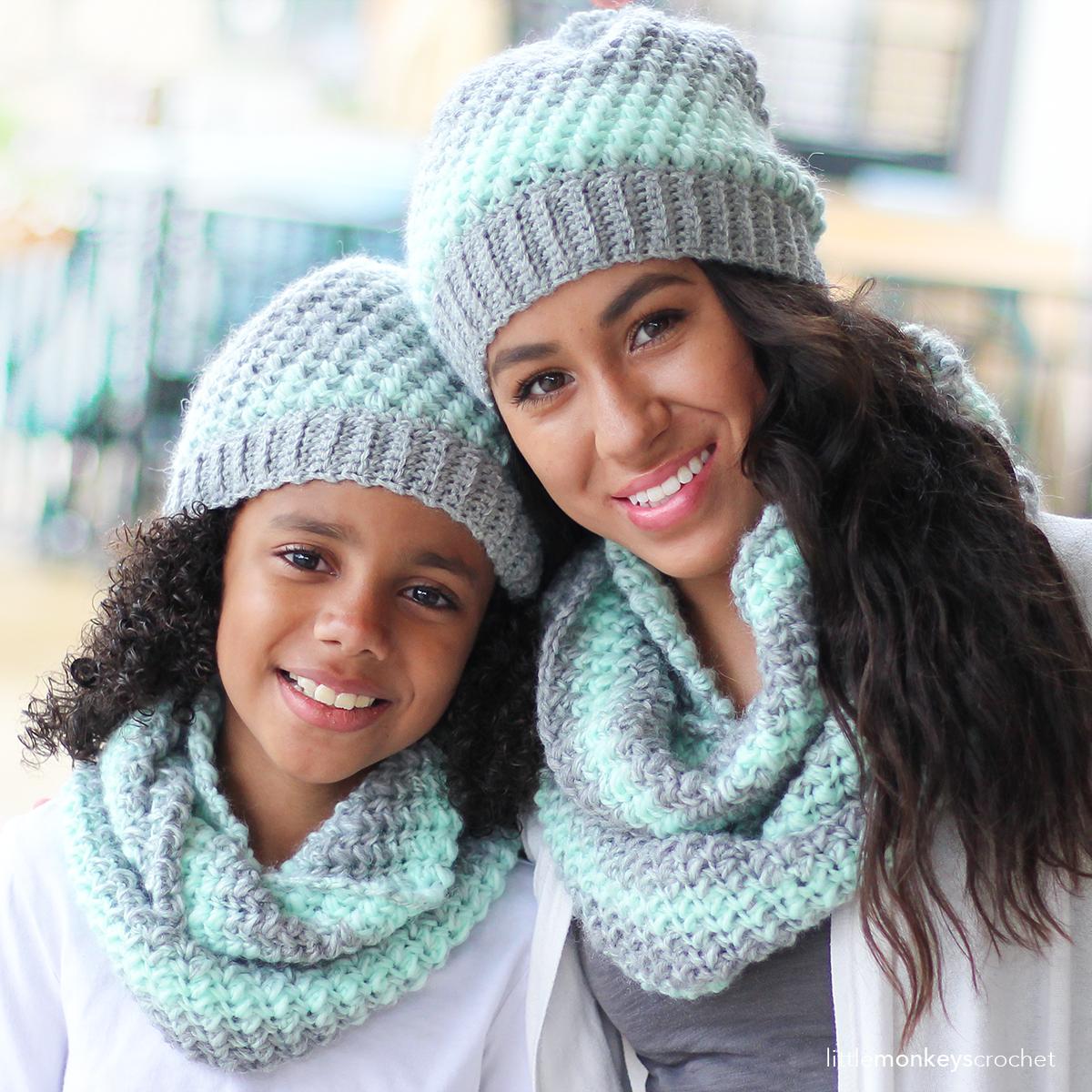 Landon Slouch Hat & Scarf Set   Little Monkeys Crochet   Crochet ...