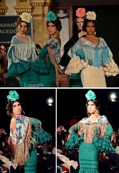Vestido de flamenca verde botella