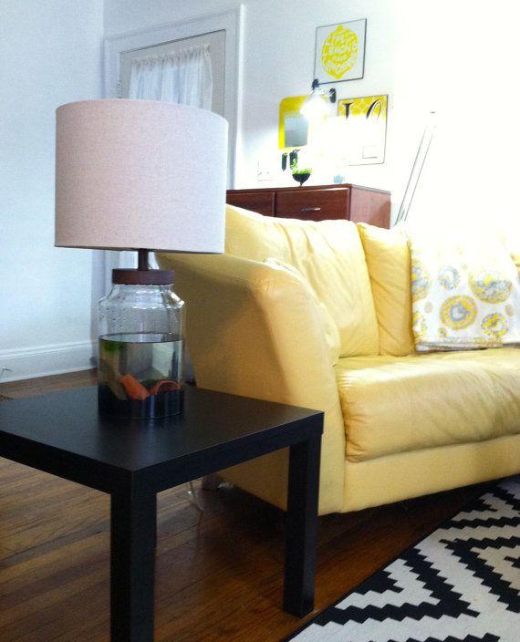 Nano Fish Tank Table Lamp 1.5g For Betta Or Marimo By SewOeno, $150.00