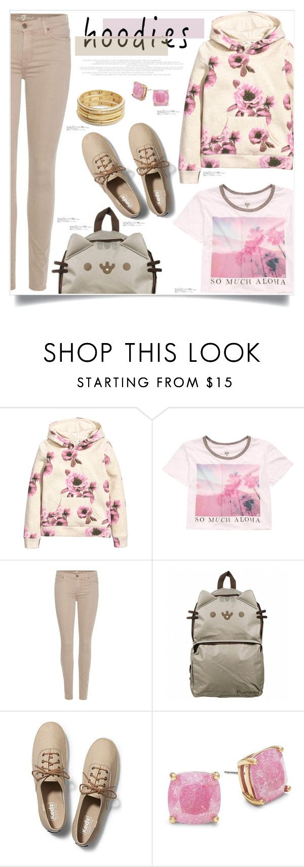"""Hoodies"" by captainsilly ❤ liked on Polyvore featuring H&M, Billabong, 7 For All Mankind, Pusheen, Keds, Kate Spade and Nanette Lepore"