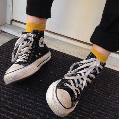 Schwarzer Schuhe Und Mit HoseSneaker Gelben Socken Converse xdCerBoW