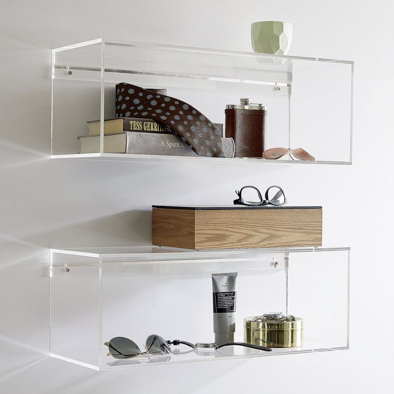 5 Ways To Use Acrylic Decor Throughout Your House Bathroom These Clear Acrylic Shelves Make Your Essentials Acrylic Wall Shelf Acrylic Decor Acrylic Shelf
