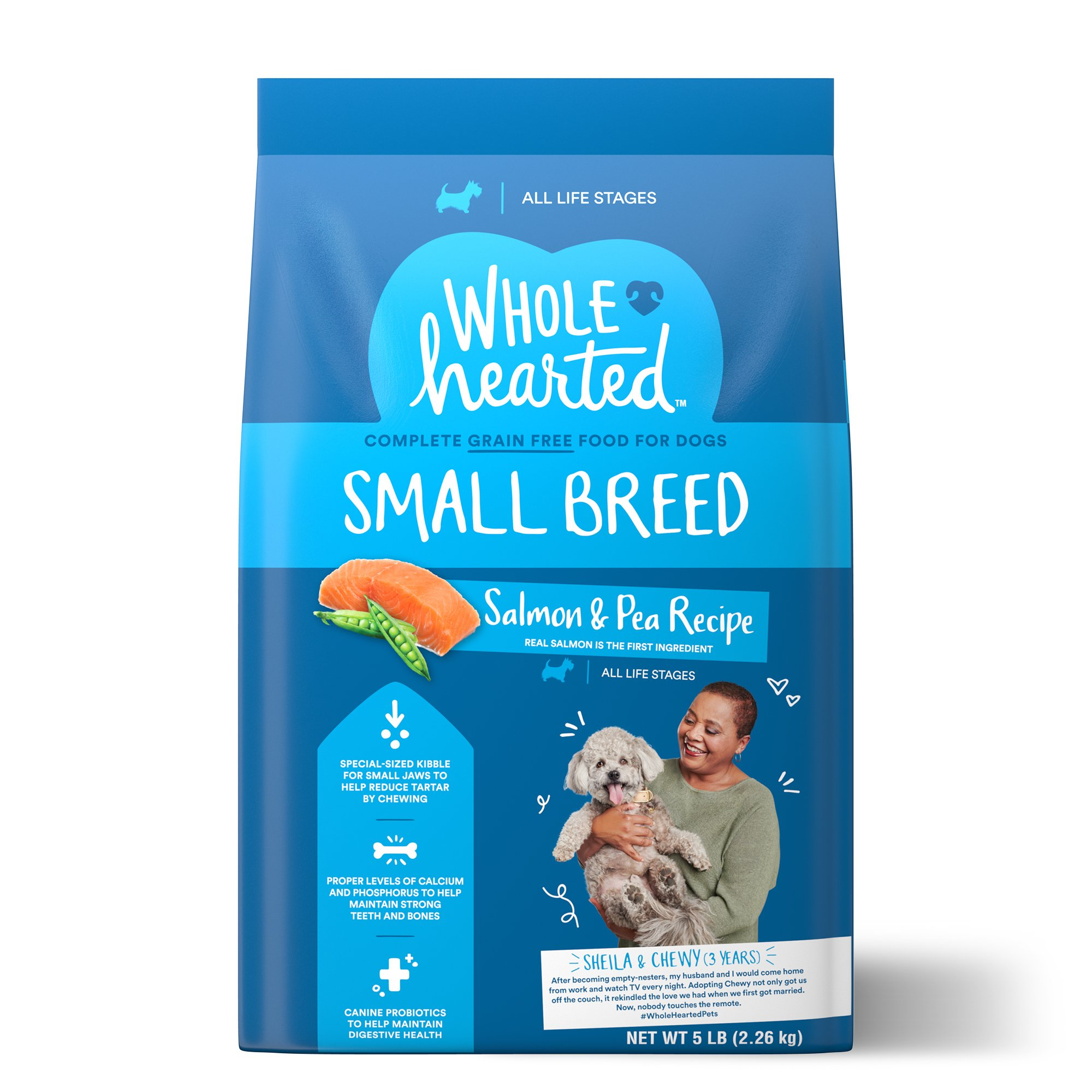 Wholehearted Grain Free Small Breed Salmon And Pea Recipe Dry Dog