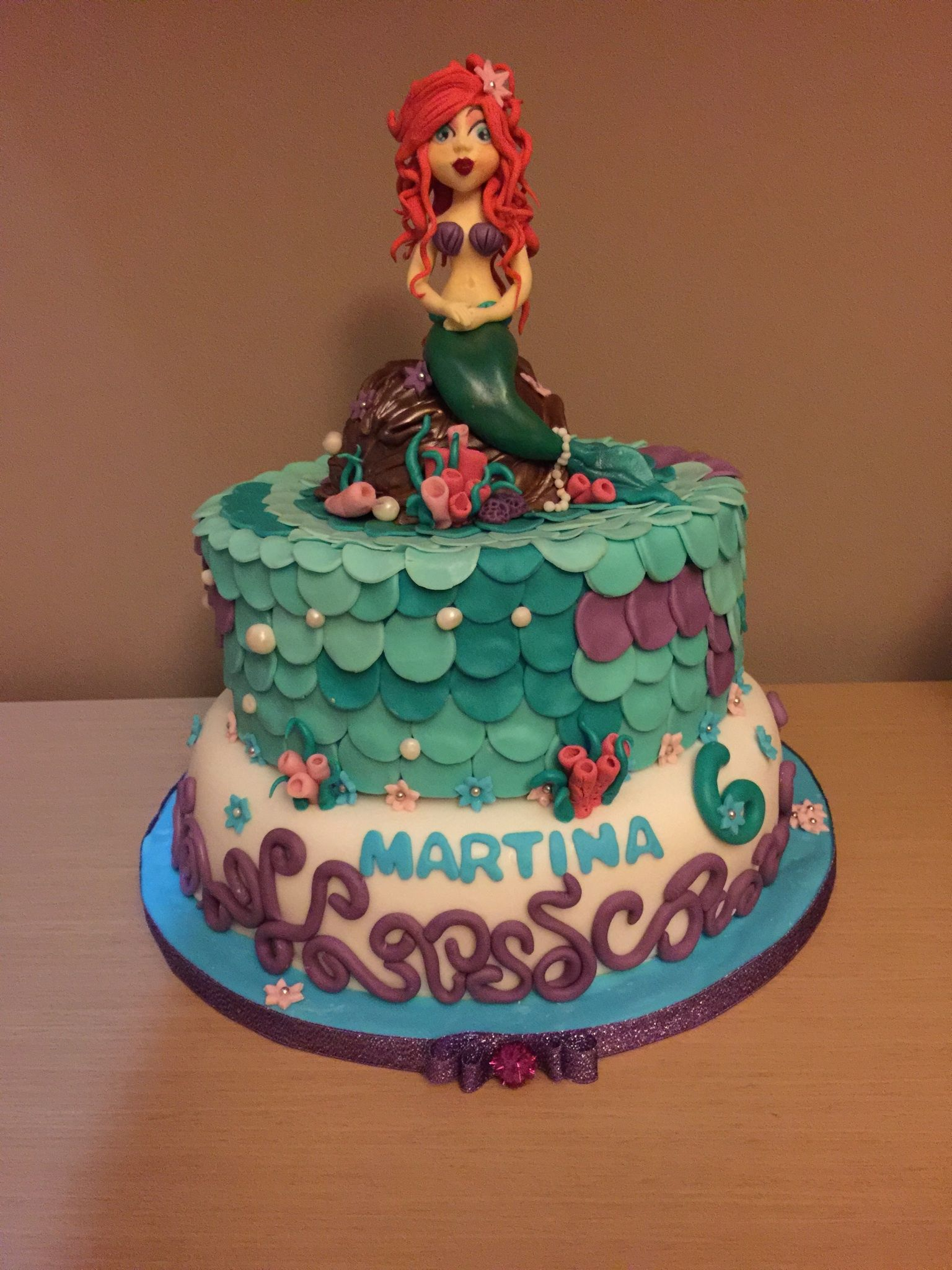 Ariel cake   Mermaid birthday cakes, Little mermaid