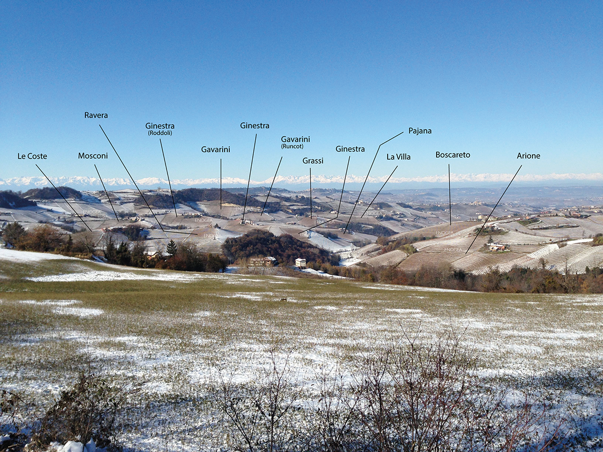 How to learn from the snow where the best nebbiolo grows...