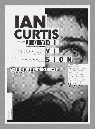 Looking For Portrait Poster Inspiration And Found This Joy Division I Like The Use Of Typography It Works Well Due To Black White Grey
