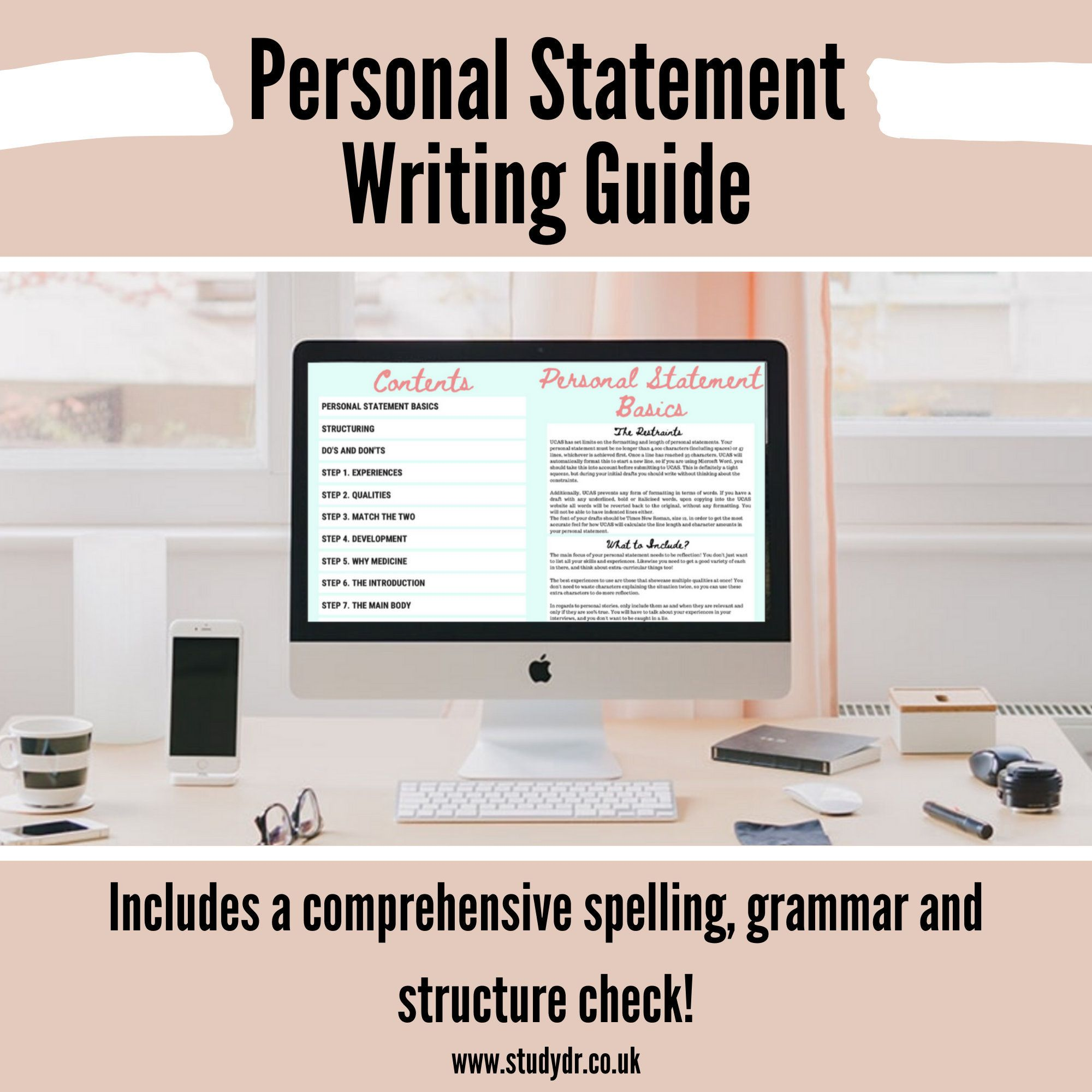Personal Statement Writing Guide Etsy In 2020 Guided Process Steps Step