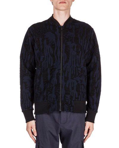 KENZO Textured Zip-Up Track Jacket, Black. #kenzo #cloth #