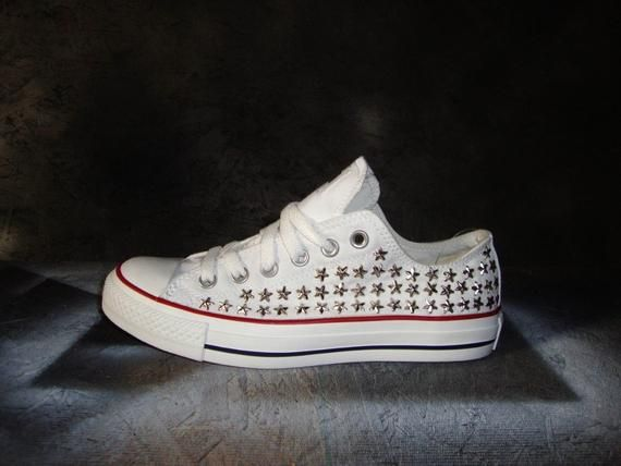 Star Studded Converse Shoes 0bf09da0f