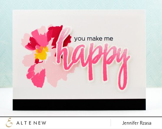 Halftone Happy Stamp Set From Altenew We Know How Much You Love