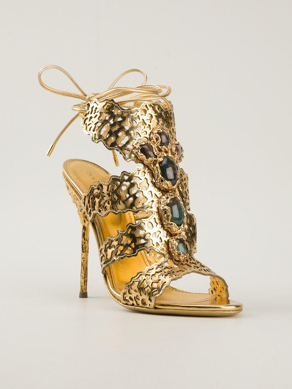 5b22a6df2f SERGIO ROSSI - Sandália dourada 6. SERGIO ROSSI - Sandália dourada 6 Sapatos  Importados