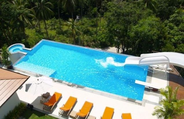 house - House Pools With Slides