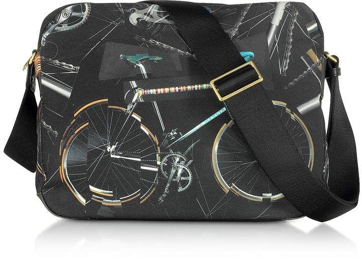 Paul Smith Briefcases, Canvas Bike Print Messenger Bag