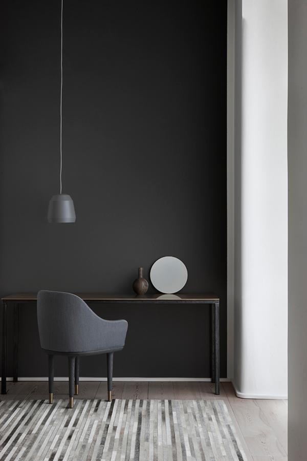 Channel Rug Linie Design Dark Walls Dark Interiors Pinterest - Carrelage salle de bain et linie design tapis