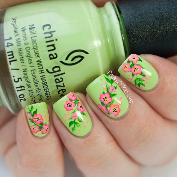 - Lime Green Nail Polish Designs