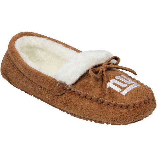 Wholesale New York Giants Women's Moccasin Slippers $22.99 | new york giants  for cheap