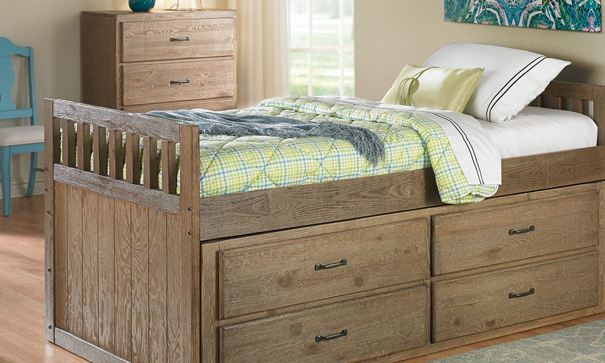 Best Picture Of Tucson Captain S Storage Bed Full With 400 x 300