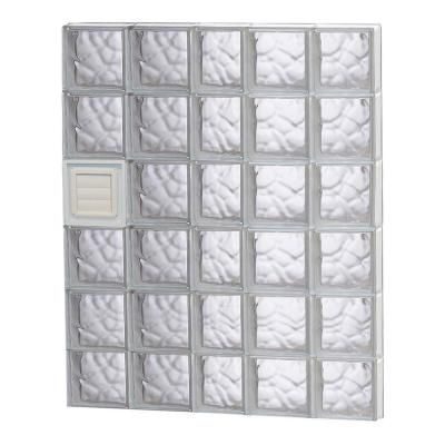 Clearly Secure 36 75 In X 46 5 In X 3 125 In Frameless Wave