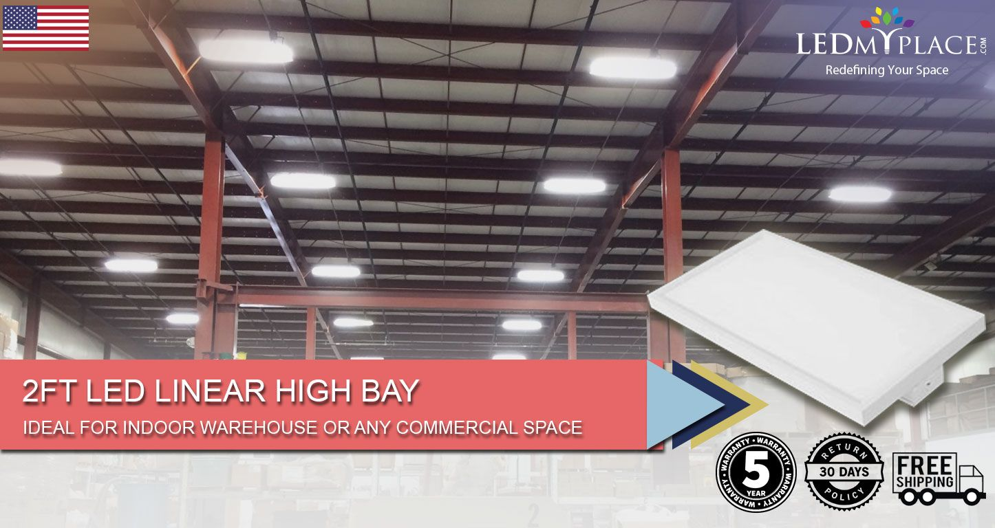 2ft Led Linear High Bay 165w 5000k High Bay Lighting High Bay Lights Led