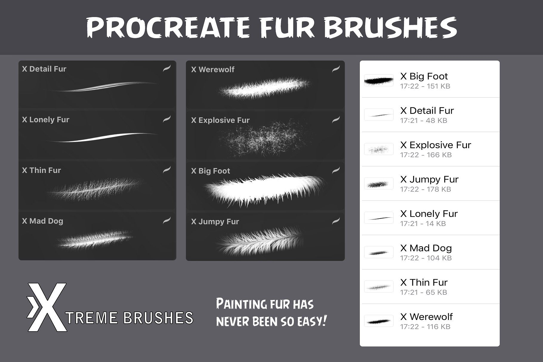 Procreate Fur Brushes Procreate Brushes Procreate Brushes Free