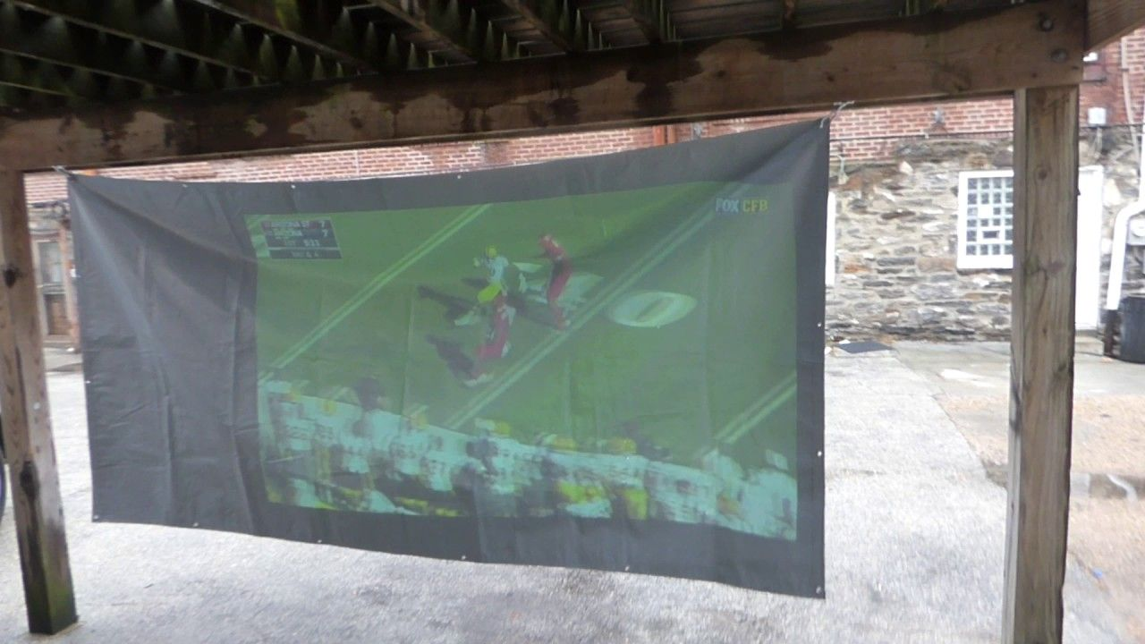 HIGH GAIN HD INDOOR OR OUTDOOR PROJECTOR SCREENS COMMERCIAL KITS