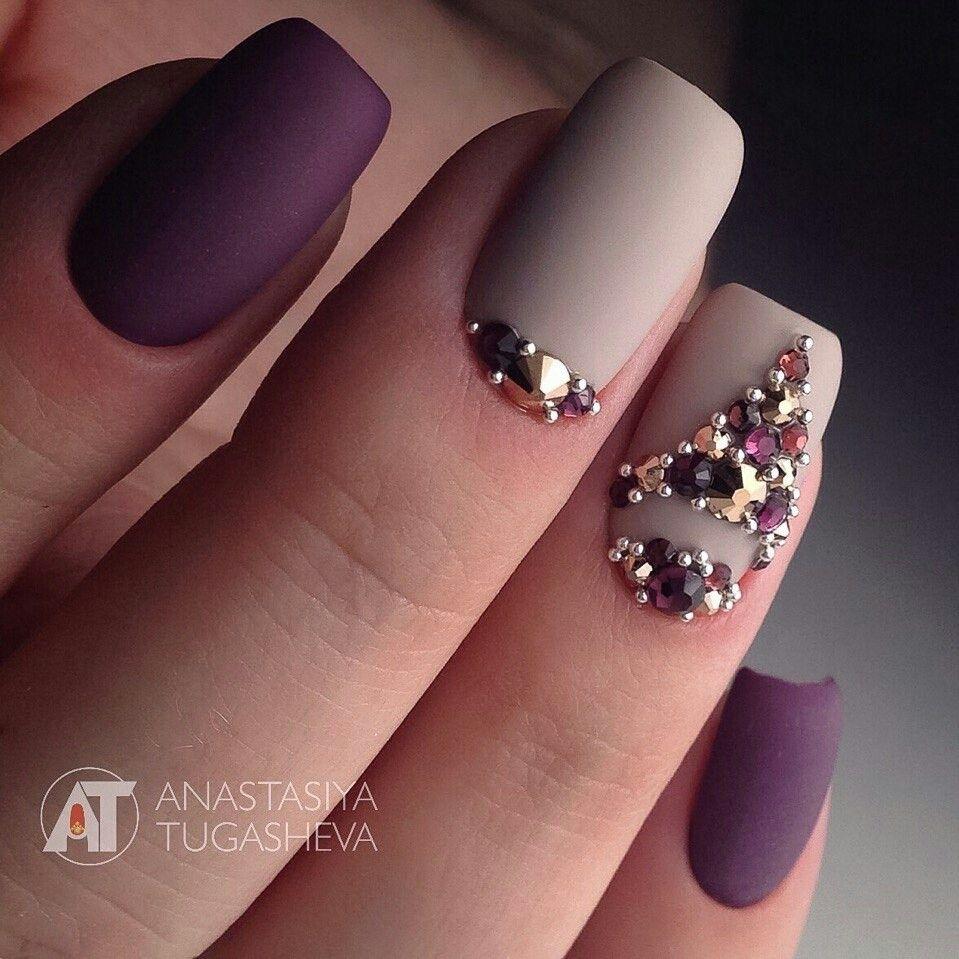 Rhinestones And Caviar Pearls Uñas Pinterest Manicura Uña