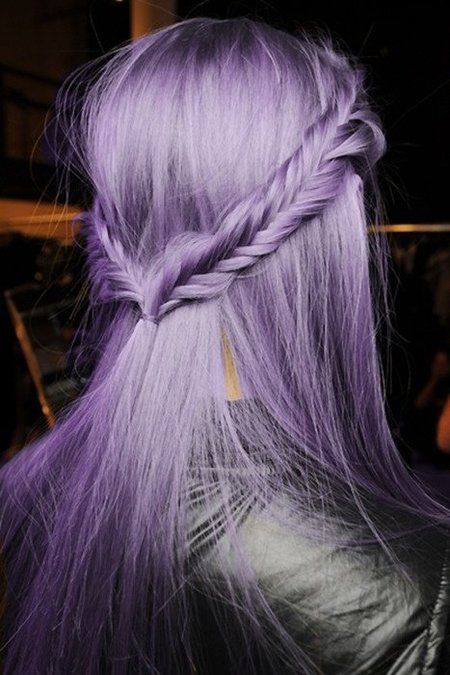 hair braid Lavender