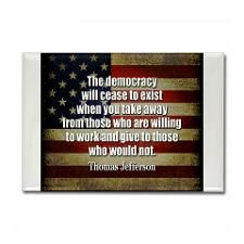 Democracy Quote Rectangle Magnet Democracy Quote Magnets   CafePress