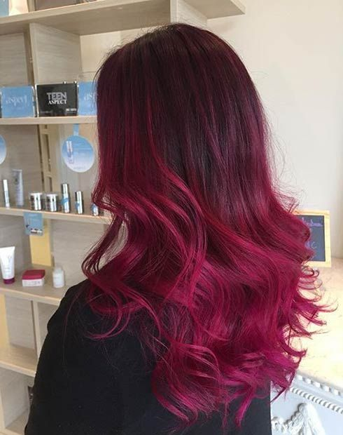21 Amazing Dark Red Hair Color Ideas Stayglam Dark Red Hair Color Red Ombre Hair Hair Color Burgundy