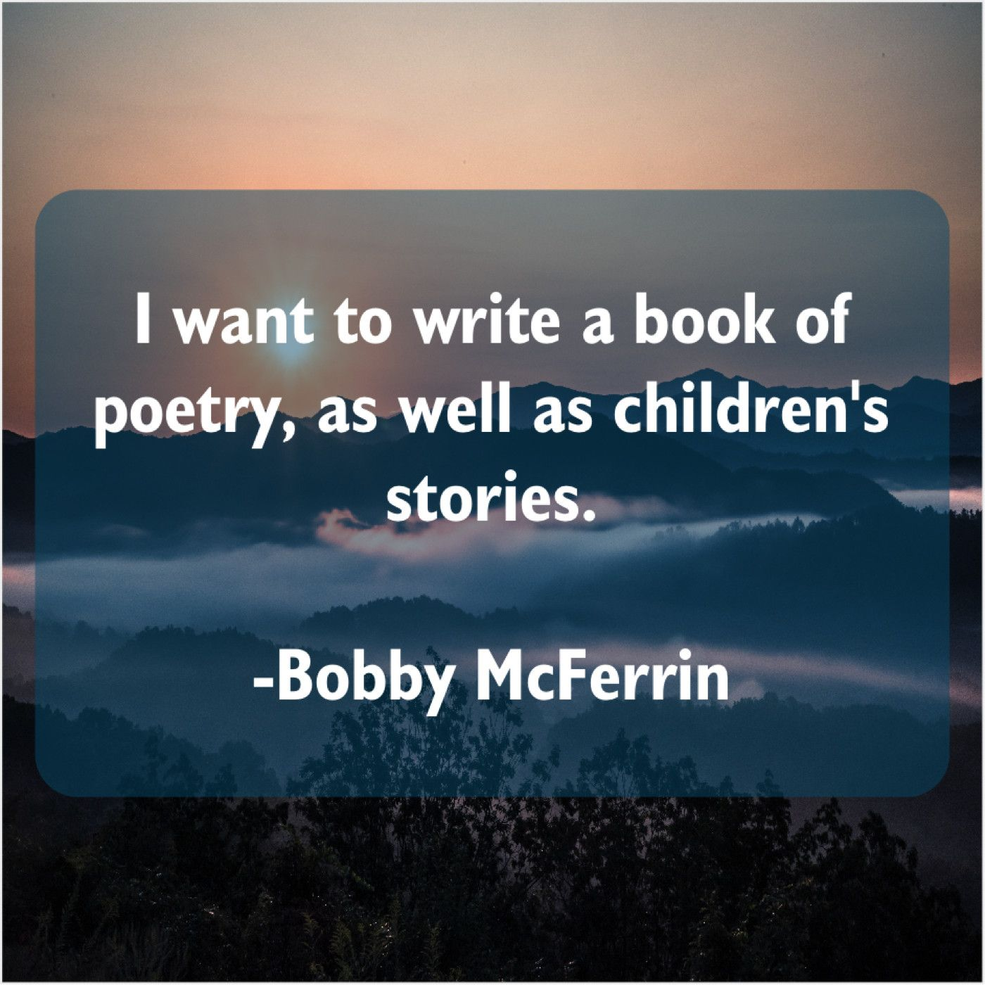 Bobby Mcferrin I Want To Write A Http Bit Ly Ttfn1 Bobby Writing Things I Want