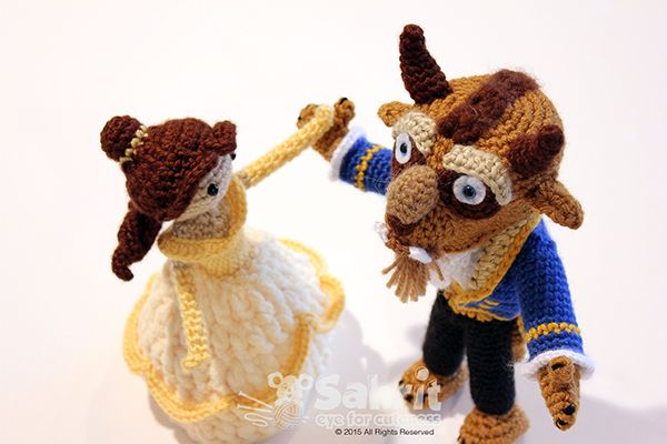Combo Beauty And Beast Amigurumi Pattern
