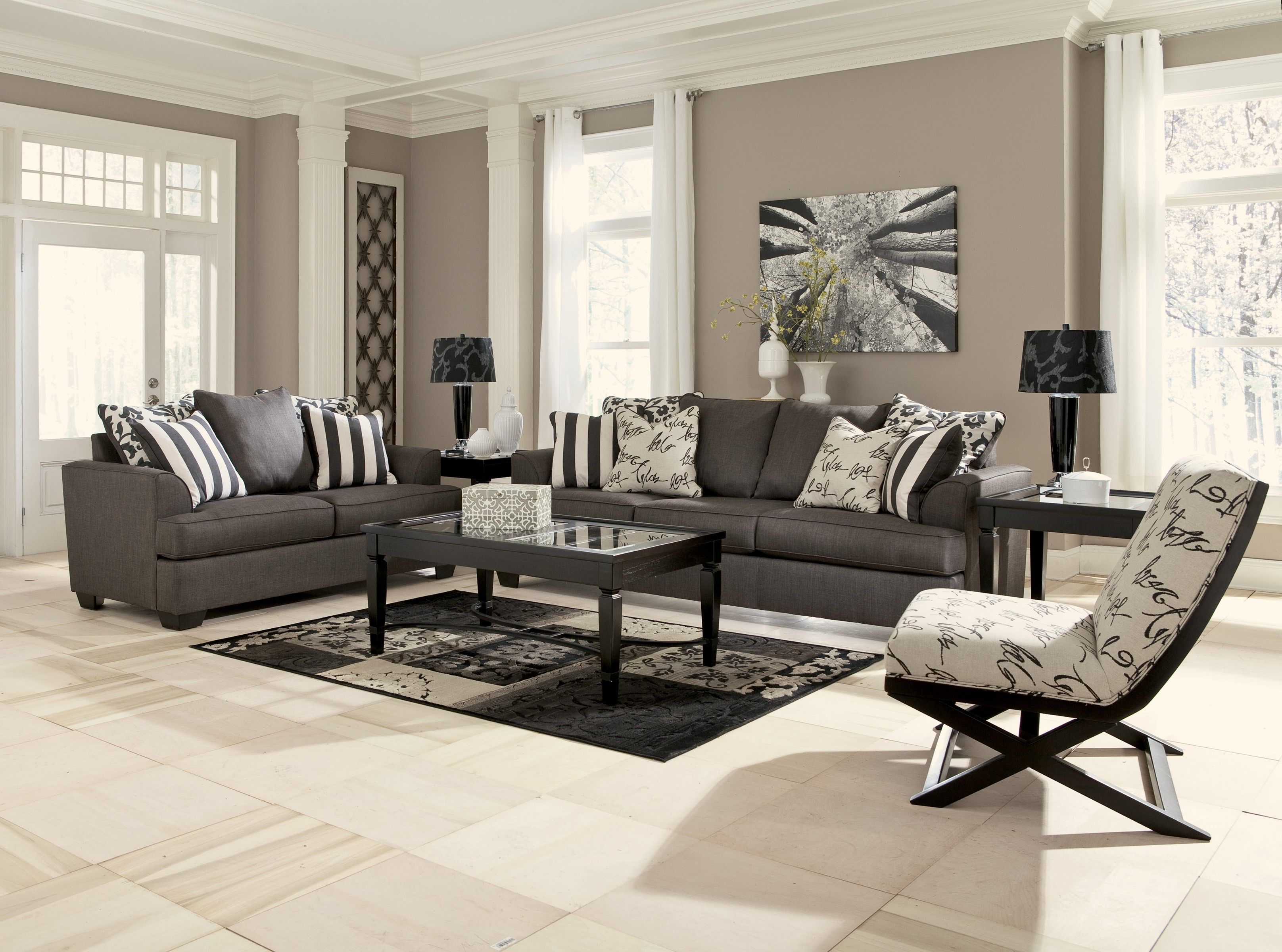 Modern Furniture For Living Room Contemporary Charcoal Living Room Love Our New Living Room