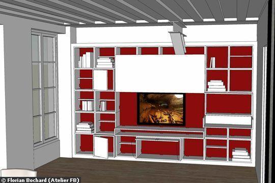 Où mettre la télévision dans le salon ? Salons, Shelves and Living