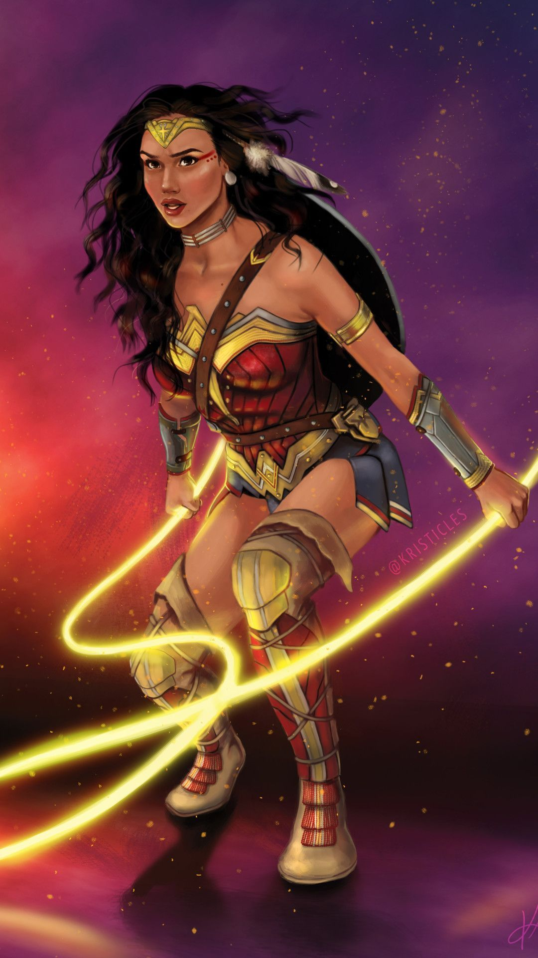 4k Art Wonder Woman Mobile Wallpaper Iphone Android Samsung