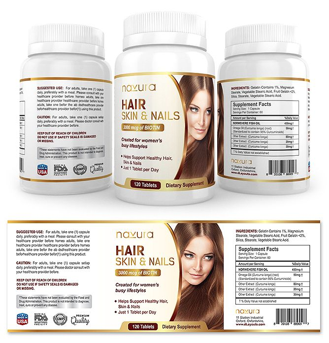 Hair Skin  Nails Supplement Label Template HttpWwwDlayouts