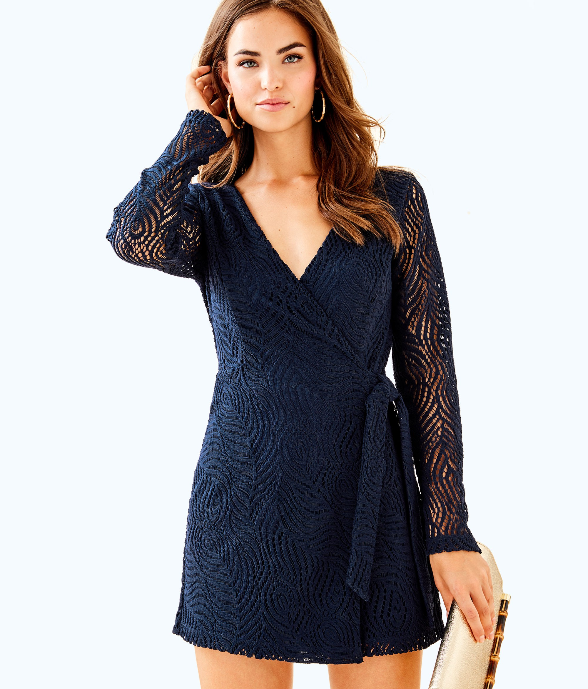 e2ea6bb5c1 Lilly Pulitzer Tiki Wrap Romper - XXS Navy | Products | Rompers ...