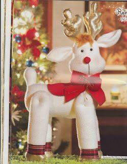 Navidad con patrones renos navide os reno y noel for Manualidades renos navidenos