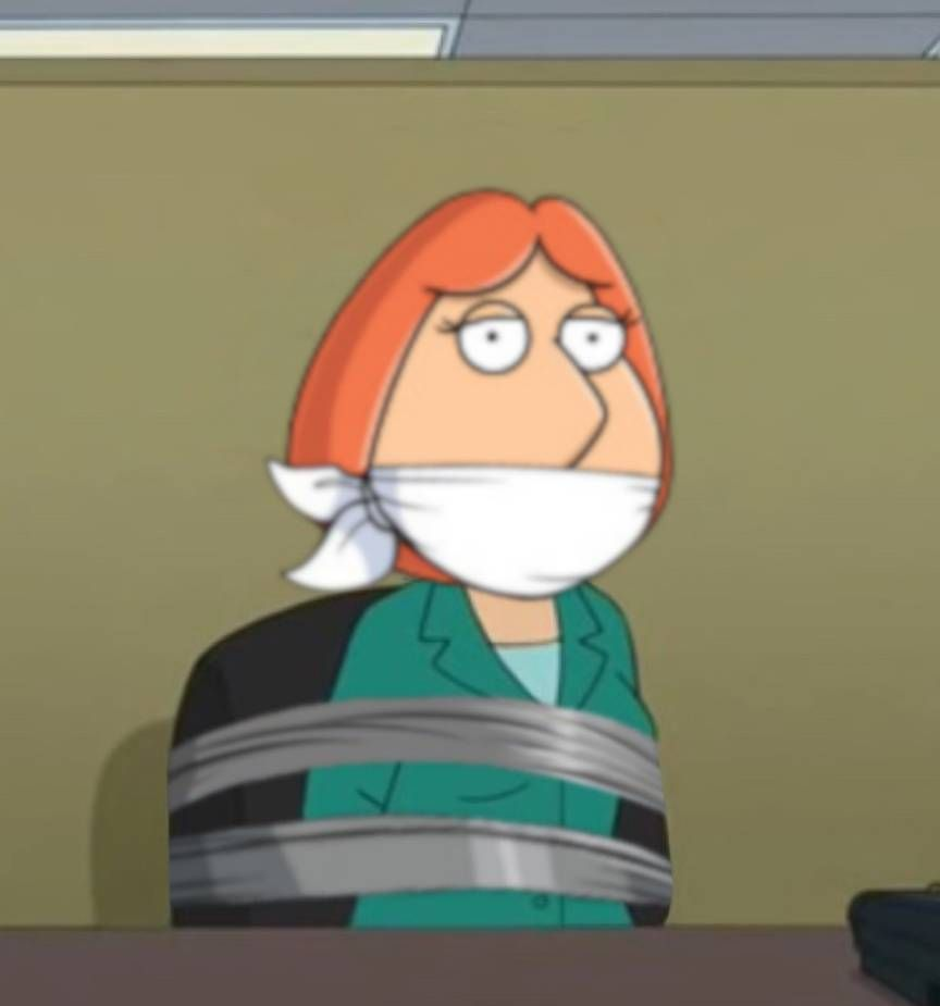 Gagged Animation lois griffin bound and gaggedgoldy0123 on deviantart