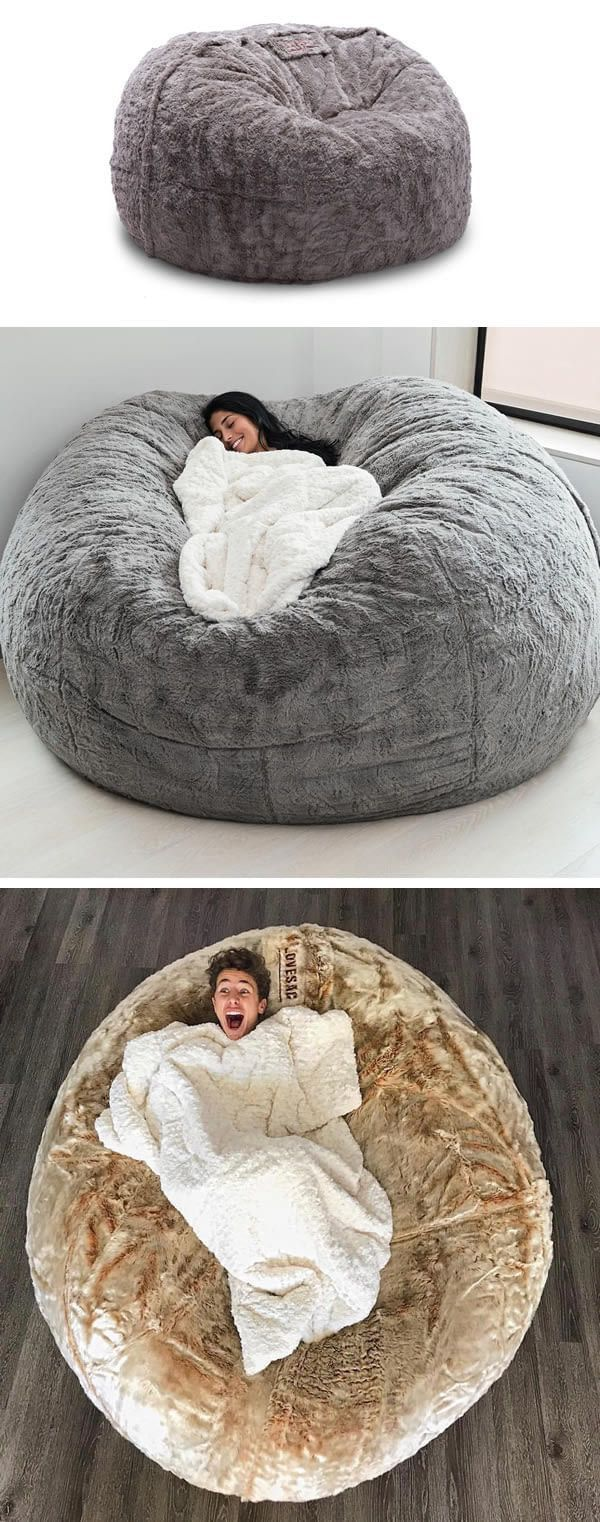 This Enormous Bean Bag From Lovesac Is What Nap Dreams Are Made Of Memesandmoreme Teenager Schlafzimmer Dekorieren Schlafzimmer Deko Zimmer Ideen Schlafzimmer