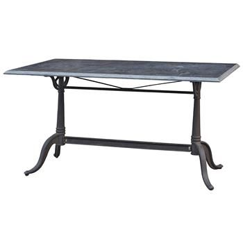 Pierre French Industrial Bluestone Bistro Dining Table - 64 Inch