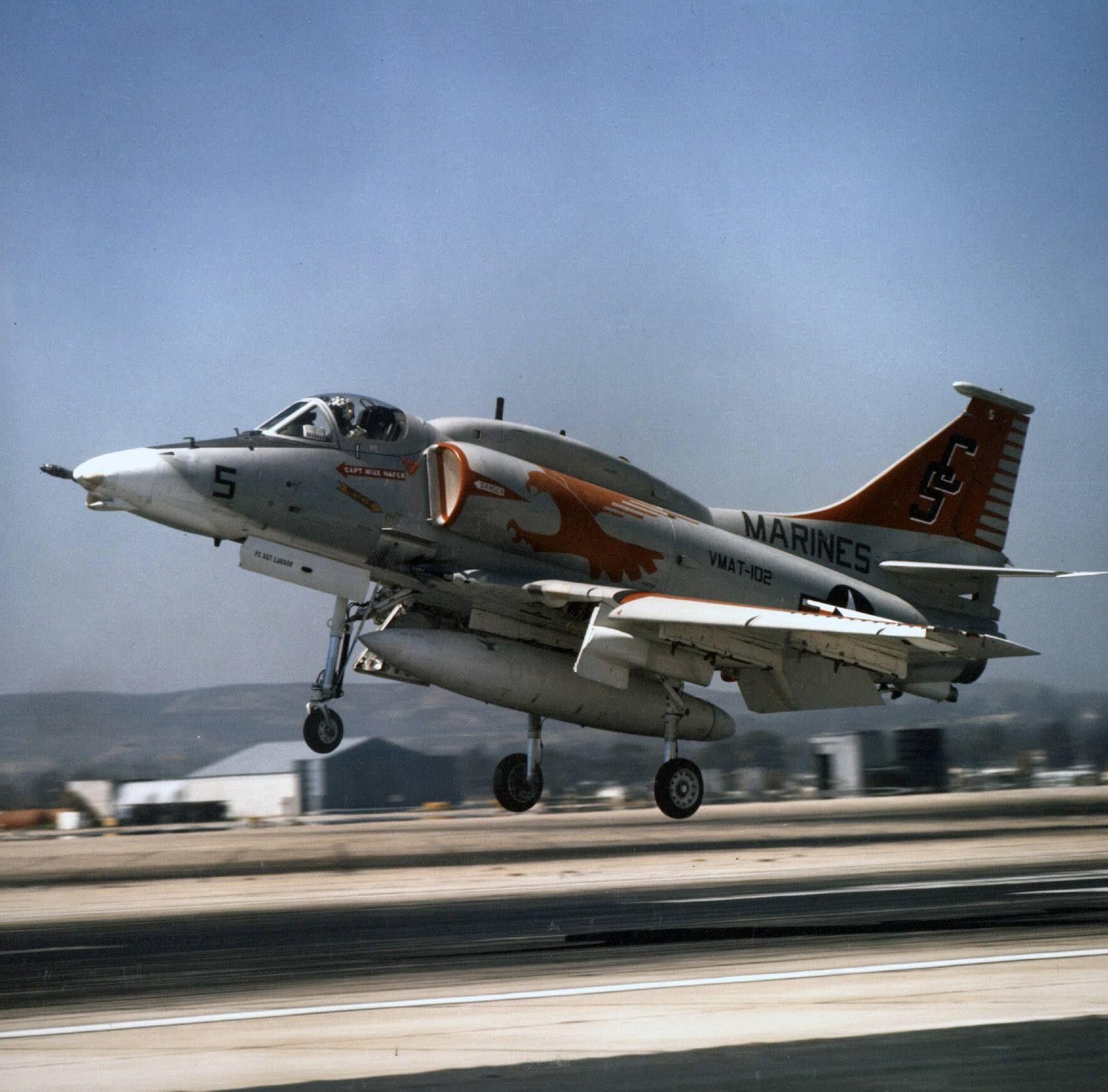 An a4m skyhawk of marine attack training squadron vmat