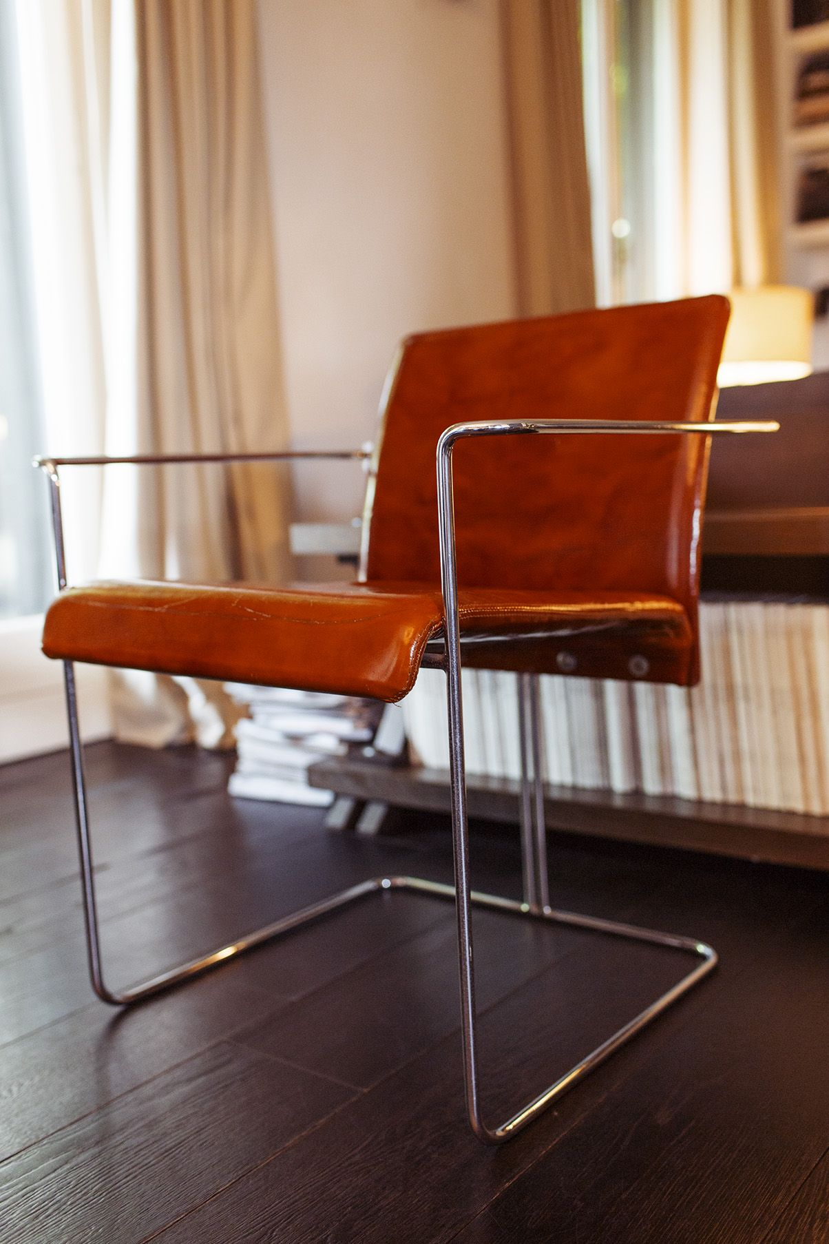 simple leather chair
