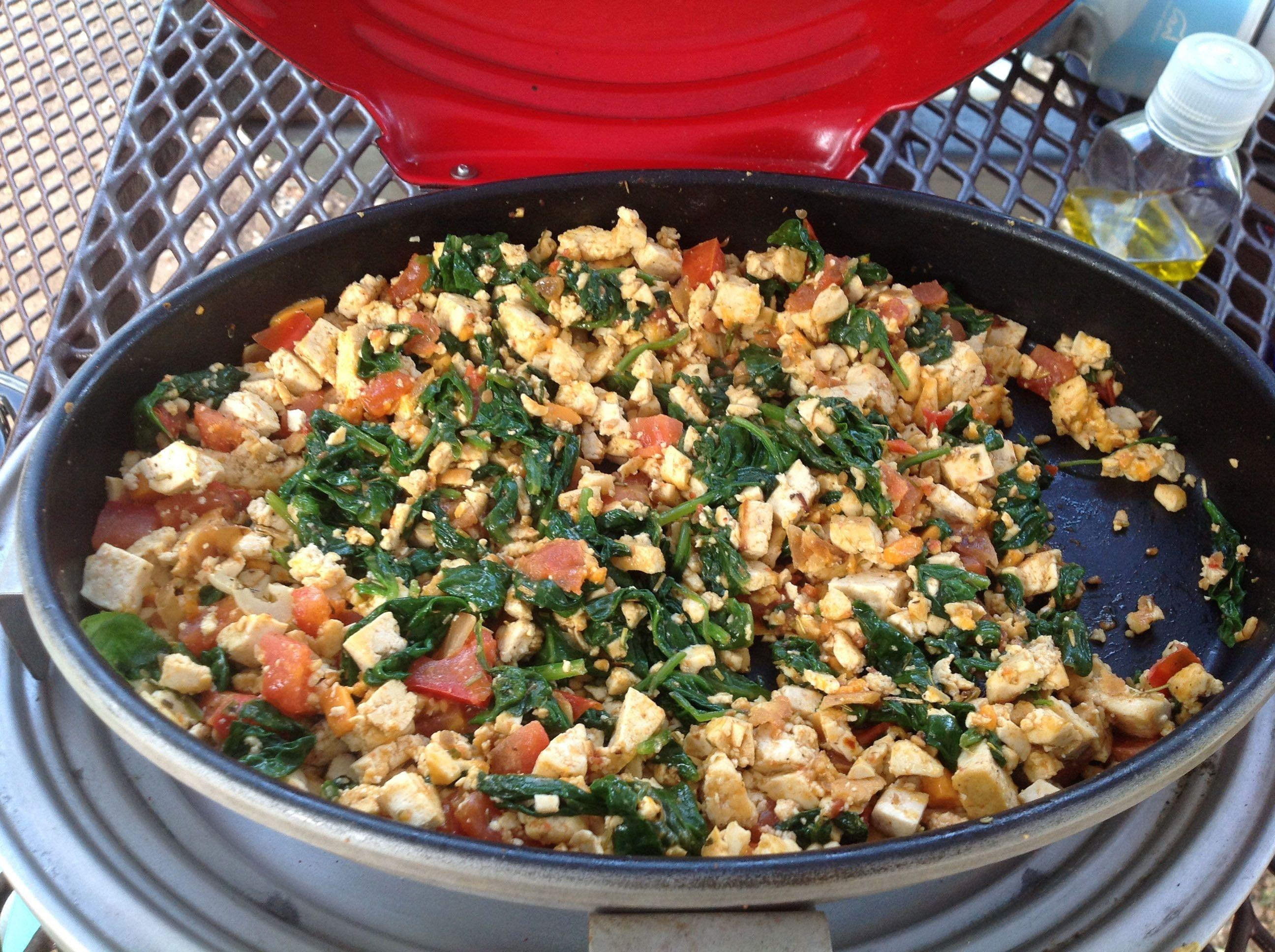 Camping tofu scramble vegan gluten free this savory