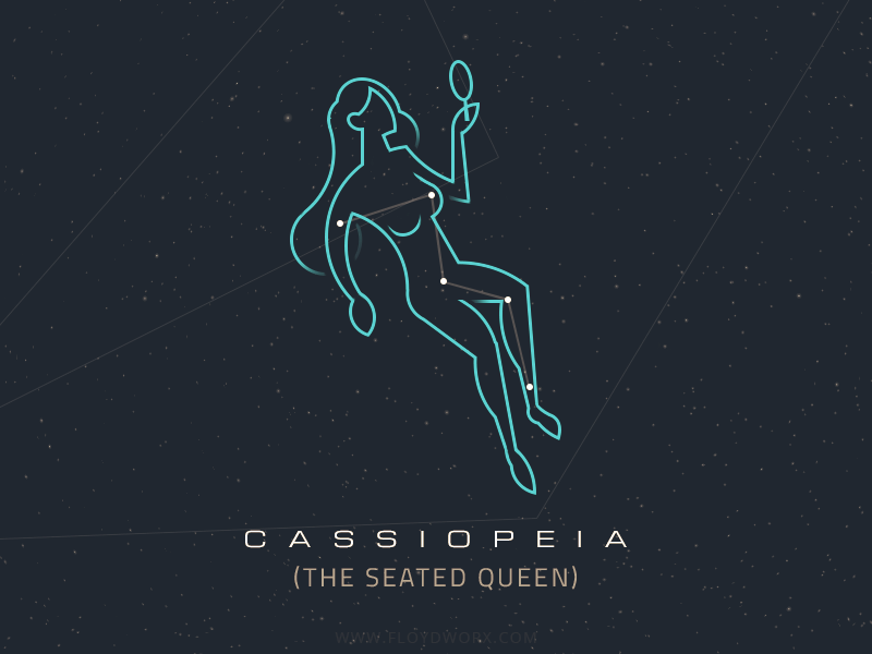 Constellations - Cassiopeia by Csaba Gyulai #Design Popular #Dribbble #shots