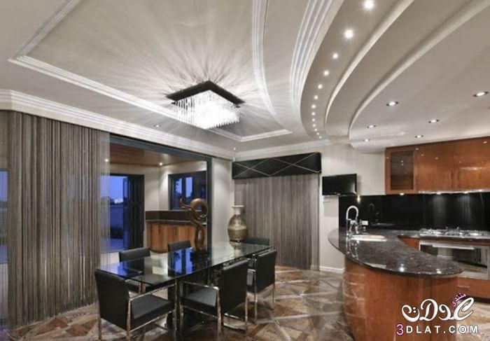 ديكورات جبس مودرن 2019 بورد غرف نوم مجالس صالونات اسقف وحوائط معلقة ديكورات جبسية لشقق رائعه Kitchen Ceiling Design Ceiling Design Modern Ceiling Design