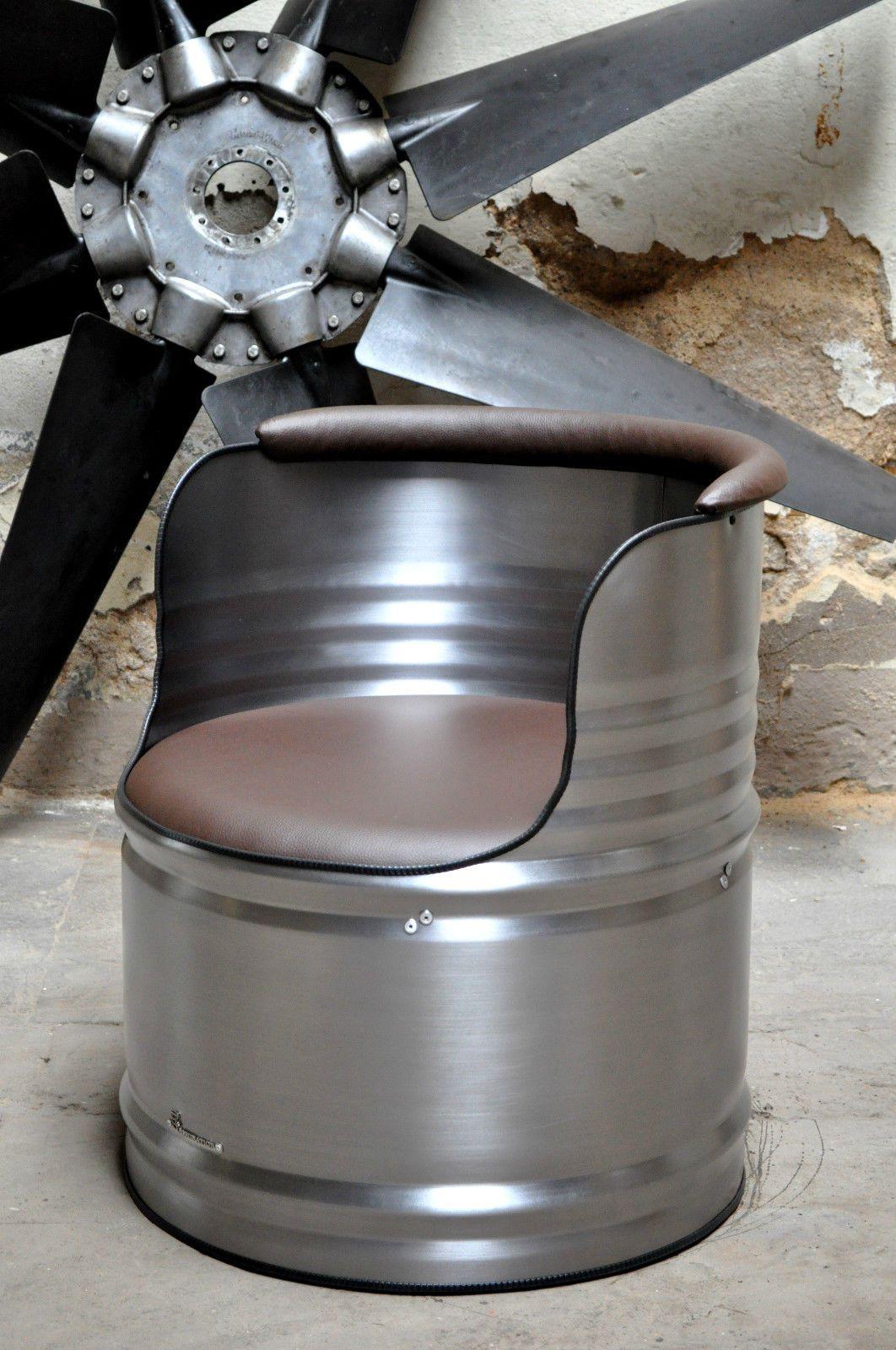 metall design sessel aus 200l fass lfass geb rstet klar pulverbeschichtet en 2018 id e. Black Bedroom Furniture Sets. Home Design Ideas