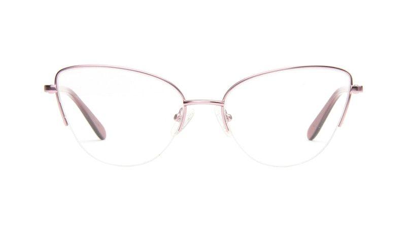 bd6db519cc0 Affordable Fashion Glasses Cat Eye Semi-Rimless Eyeglasses Women Airy Rose  Marble