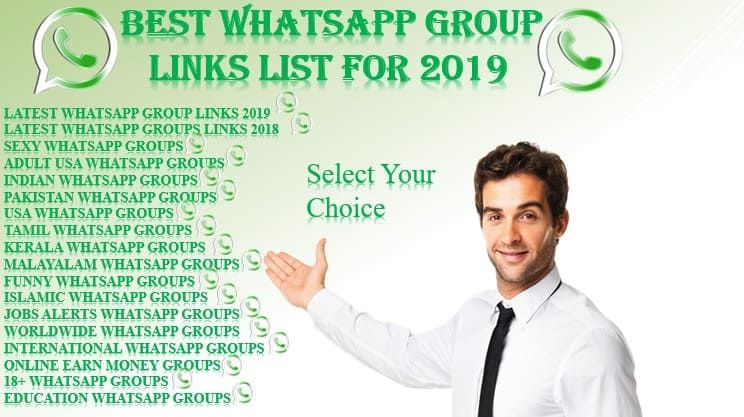 Whatsapp Group Links List Of 2019 | whatsapp groups for 2019
