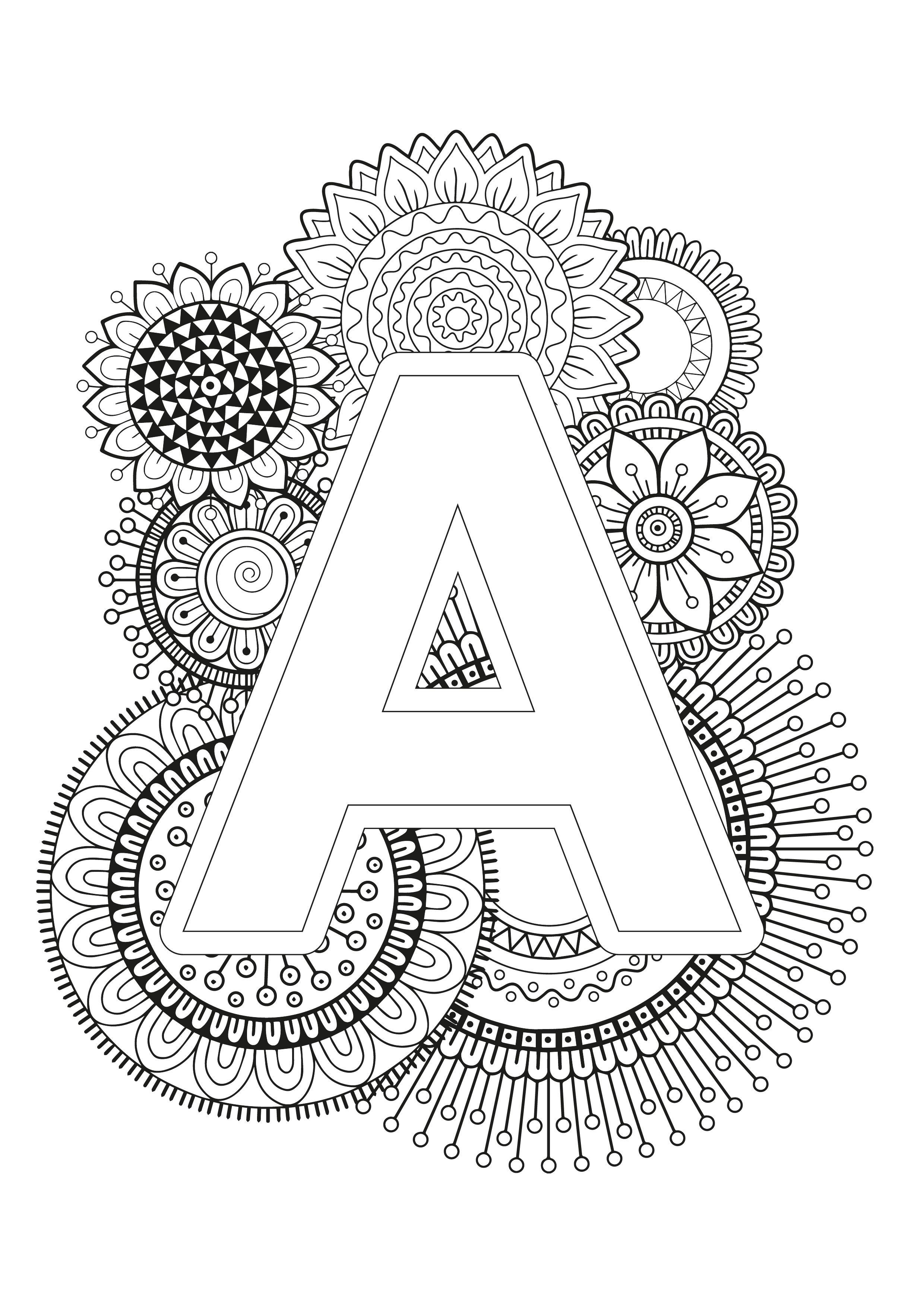 Mindfulness Coloring Page Alphabet Mandala Coloring Pages Abstract Coloring Pages Mandala Coloring