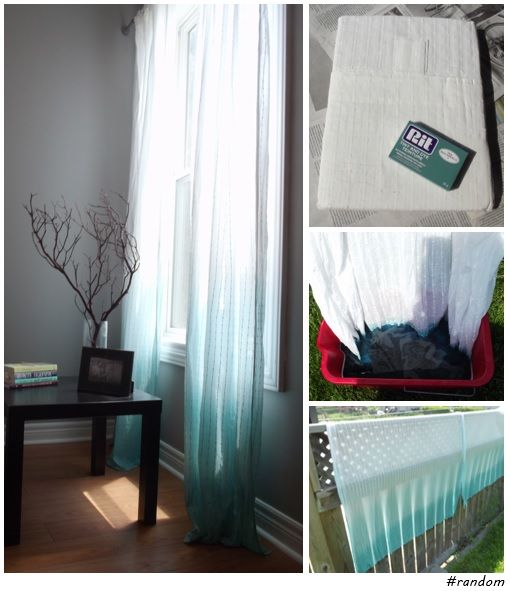 DIY Ombre Curtains (using Rit Powdered Dye)   So Easy And Looks Amazing.